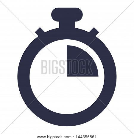 chronometer time silhouette seconds icon. Flat and Isolated design. Vector illustration