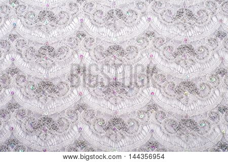 Lace Texture On Fabric
