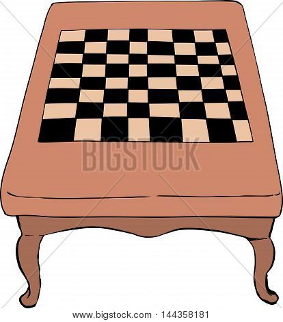 Chess Table With Short Legs