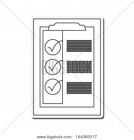 check list delivery shipping icon. Flat and Isolated design. Vector illustration