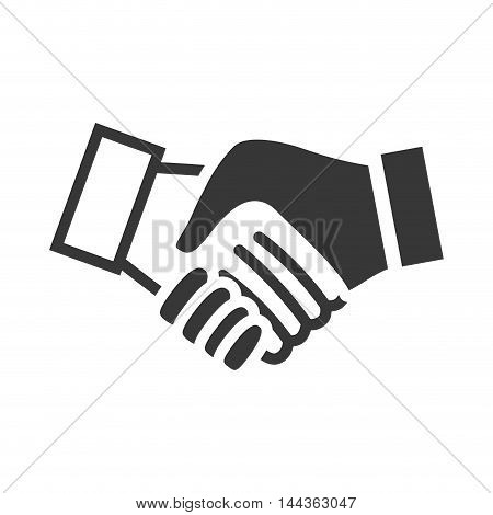 human hand shake gesture shape icon. Isolated and flat illustration. Vector graphic