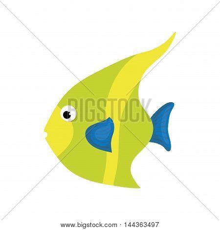 fish sea life animal cartoon icon. Isolated and flat illustration. Vector graphic