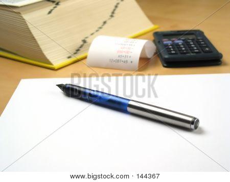 Pen Lying On Blank Paper