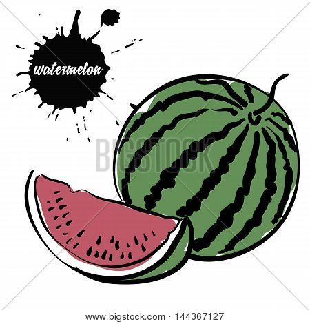 Isolated eco natural food berry juicy watermelon