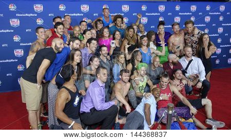 LOS ANGELES - AUG 24:  American Ninja Warrior Competitors at the