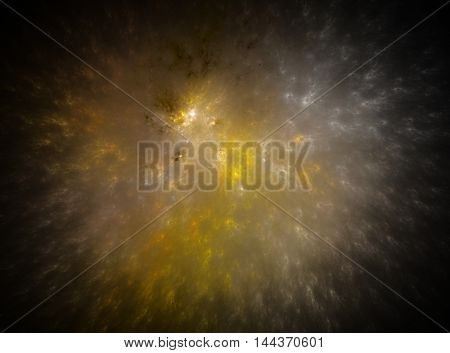 Fractals, an explosion and create abstract galaxy on a black background.