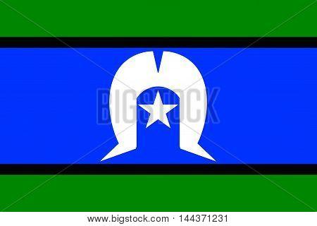 The flag of the Australian Torres Strait Islander