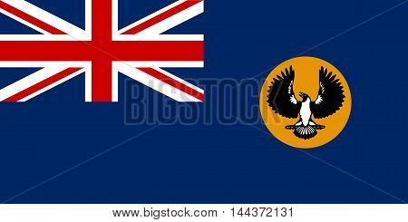 The flag of the Australian state of South Australia