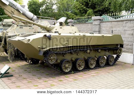 Armored personnel carrier in the museum of military equipment