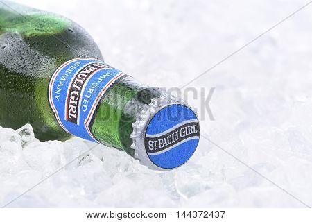 St. Pauli Girl Beer On Ice