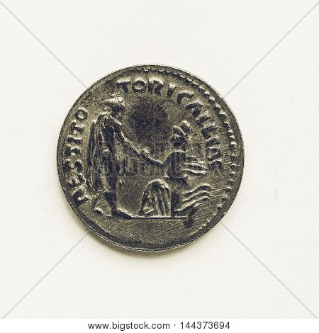 Vintage Old Roman Coin