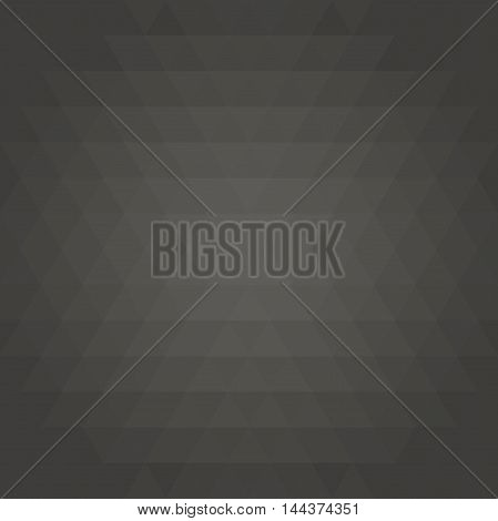 Geometric dark pattern with triangles. Seamless abstract background