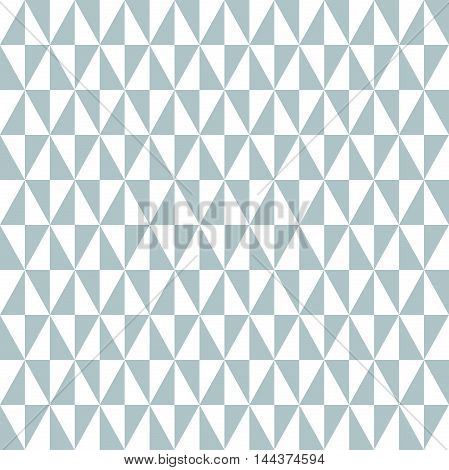 Geometric pattern with light blue and white triangles. Seamless abstract background