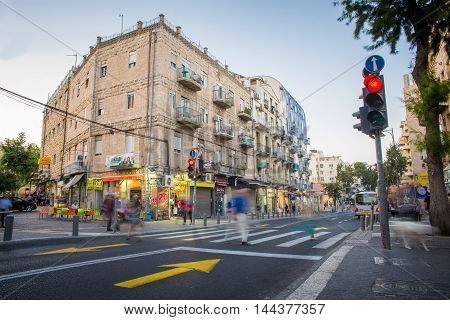 JERUSALEM, ISRAEL - JUNE 2, 2015: City life in the old town