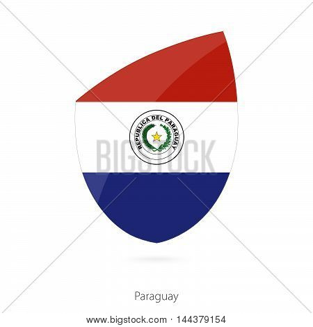 Flag Of Paraguay In The Style Of Rugby Icon.