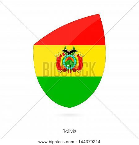 Flag Of Bolivia In The Style Of Rugby Icon.