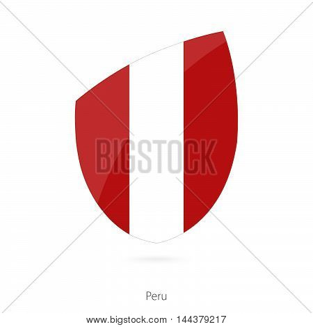 Flag Of Peru In The Style Of Rugby Icon.