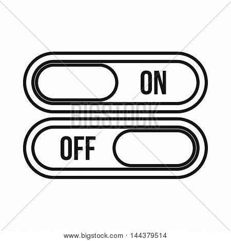 On and Off buttons icon in outline style on a white background