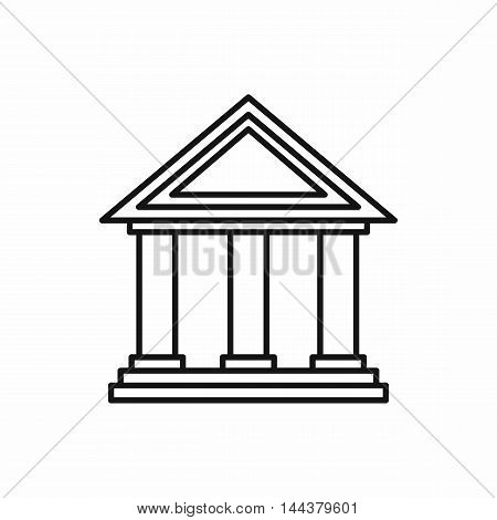 Museum building icon in outline style on a white background