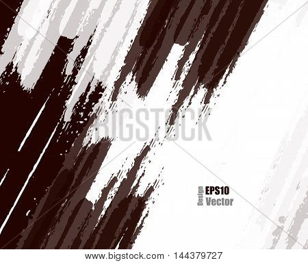 grungy vector background. Elements for design. Hand drawn ink blotchs. Eps10