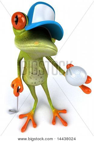 Frog and golf
