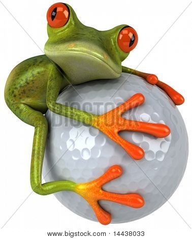 Rana y golf