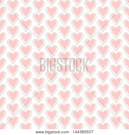 Seamless background with hearts. Love pattern. Romantic design. Valentine art. Elegant backdrop for cards invitations. Vector illustration.