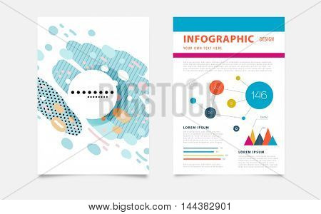Infographic elements, annual report brochure template, Leaflet cover presentation, Flyer abstract flat background design, A4 layout vector.