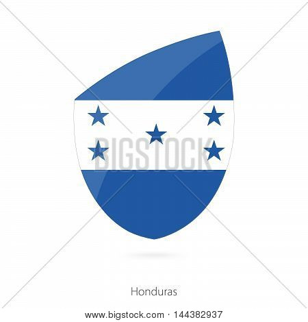 Flag Of Honduras In The Style Of Rugby Icon.