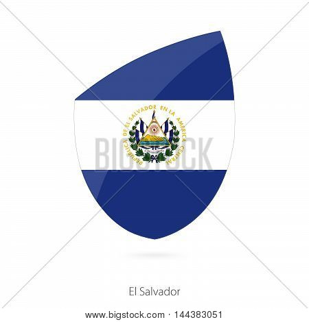 Flag Of El Salvador In The Style Of Rugby Icon.