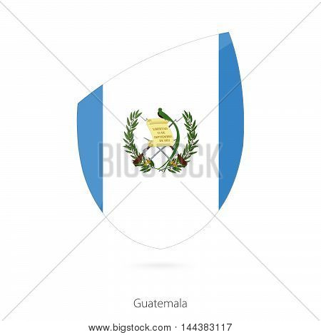 Flag Of Guatemala In The Style Of Rugby Icon.