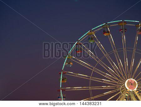 Big Ferris Wheel at night. in Thailand.