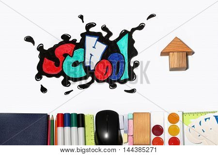 Graffiti School Word And Supplies