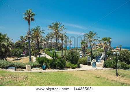TEL AVIV, ISRAEL - JUNE 4, 2015: Jaffa  also called Japho, is the southern, oldest part of Tel Aviv-Jaffa, an ancient port city in Israel. June 4, 2015. Tel Aviv, Israel.
