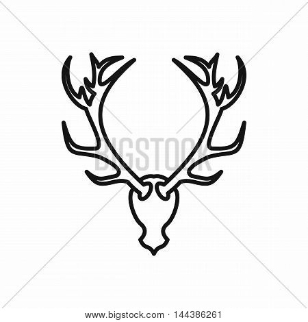 Deer head icon in outline style on a white background