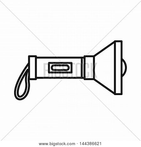 Flashlight icon in outline style on a white background