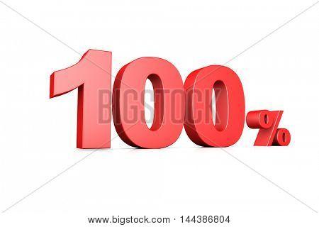 3d illustration business number 100 percent