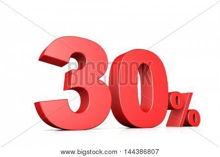 3d illustration business number 30 percent