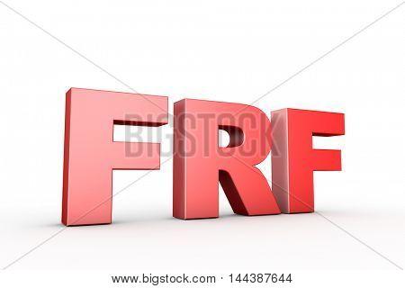 3d illustration sign frf