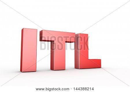 3d illustration sign itl