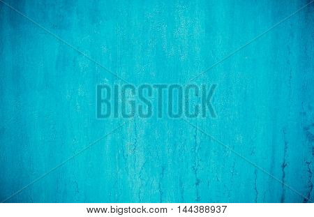 Metal blue painted retro wall texture background