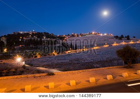 view from the height on the night of Jerusalem