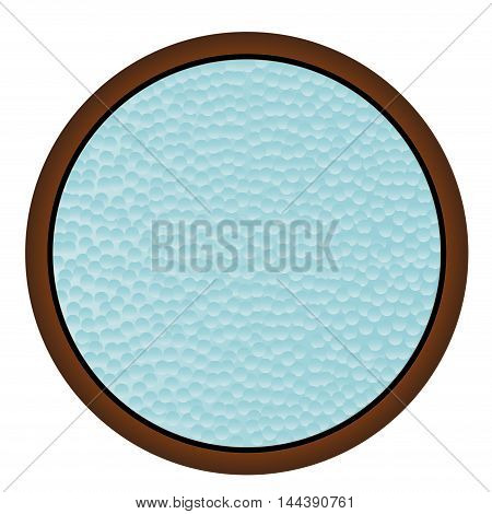 A round window with hammered bathroom glass