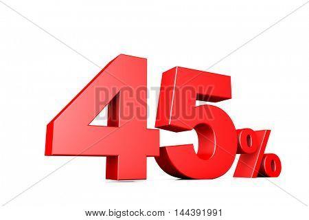 3d illustration business number 45 percent
