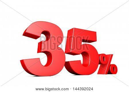 3d illustration business number 35 percent