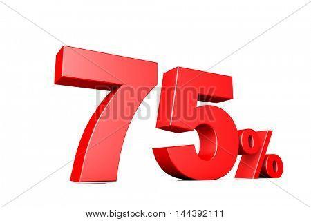 3d illustration business number 75 percent