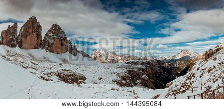 Drei Zinnen Lavaredo, Dolomites Alps mountains, Italy