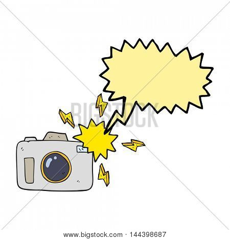 freehand drawn speech bubble cartoon flashing camera
