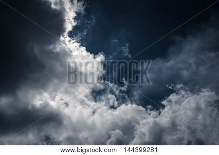 Nighttime Sky With Cloudy, Would Make A Great Background.