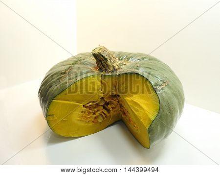 Cut Green Pumpkin